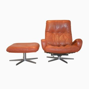 S 231 Swivel Club Chair with Ottoman from De Sede, 1960s