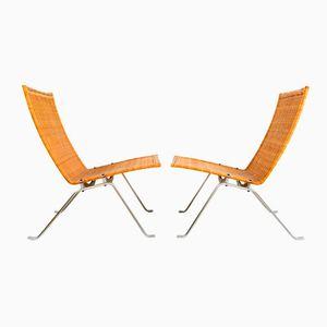 PK-22 Easy Chairs by Poul Kjærholm for Fritz Hansen, 1985, Set of 2