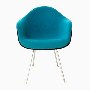 Petrolfarbener Armlehnstuhl von Charles Eames für Vitra