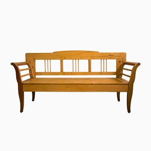 Large Biedermeier Kitchen Bench, 1820s