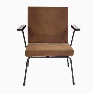 Brauner Vintage Sessel von Wim Rietveld für Gispen