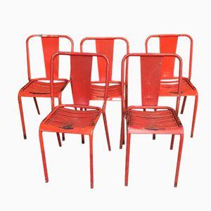 Mid-Century T4 Bistro Stühle von Xavier Pauchard für Tolix, 10er Set