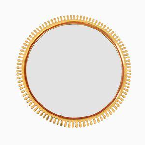 Swedish Brass Sun Mirror, 1950s
