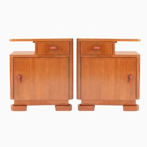 Art Deco Bedside Tables from 'T Woonhuys, 1930s, Set of 2