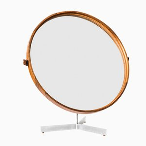 Round Table Mirror by Uno & Östen Kristiansson for Luxus, 1960s