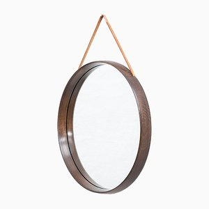 Swedish Mid-Century Round Mirror