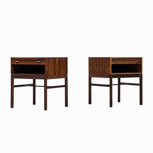 Rosewood Casino Night Stands by Sven Engström & Gunnar Myrstrand for Tingströms, Set of 2