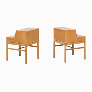 Oak Casino Night Stands by Sven Engström & Gunnar Myrstrand for Tingströms, Set of 2