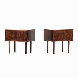 Danish Rosewood Bedside Tables, Set of 2
