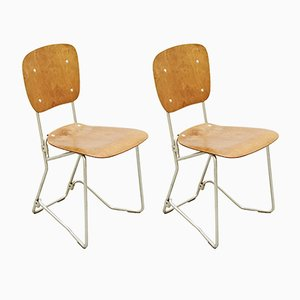 Swiss Chairs by Armin Wirth, 1950s, Set of 2