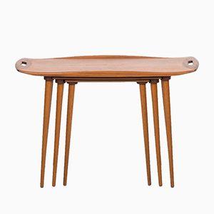 Teak Nesting Tables by Jens Quistgaard for Nissen, Set of 3