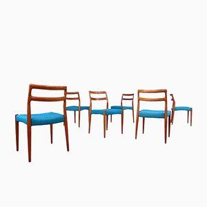 Danish Teak Dining Chairs by Johannes Andersen for Uldum, 1960s, Set of 6