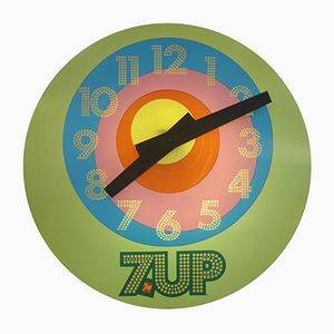 Vintage 7-Up Advertisement Clock from Everbrite