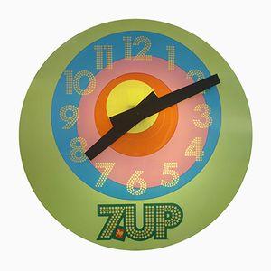 Vintage 7-Up Werbeuhr von Everbrite