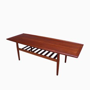 Large Teak Coffee Table by Grete Jalk for Grostrup, 1960s