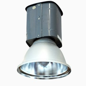 Industrial Grey-Painted Factory Light, 1970s