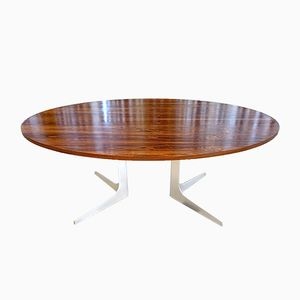 German Oval Rosewood Dining Table by Herbert Hirche for Holzäpflel, 1960s