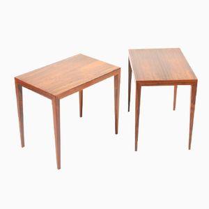 Danish Side Tables by Severin Hansen for Haslev Møbler, 1960s, Set of 2