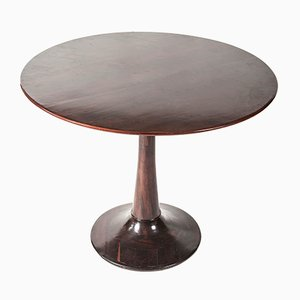 Round Rosewood Side Table from Liceu de Artes e Ofícios, 1953