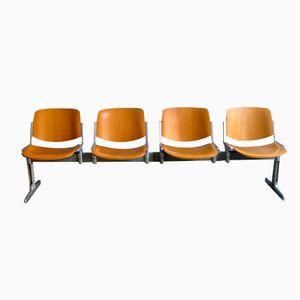 Vintage 4er Sitzbank von Giancarlo Piretti für Castelli
