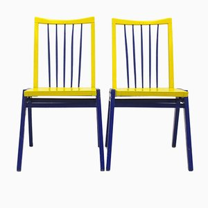 Black & Yellow Chairs by Roland Rainer, Set of 2
