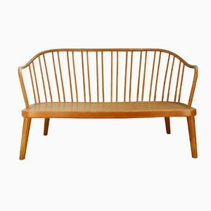 Danish Bentwood Bench by Søren Hansen for Fritz Hansen