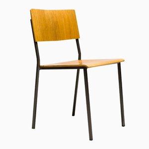 Stapelbarer Minimalistischer Dänischer Stuhl aus Eichenholz