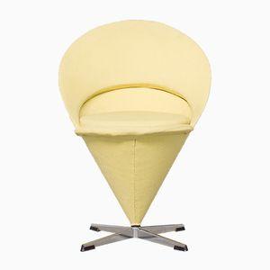 Gelber Cone Chair von Verner Panton für Plus-Linje