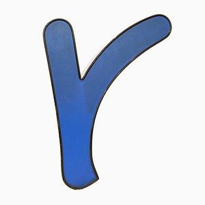 Mid-Century Blue Illuminated Letter R