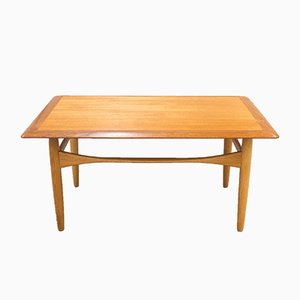 Mid-Century Teak & Oak Coffee Table by Aksel Bender Madsen for Bovenkamp