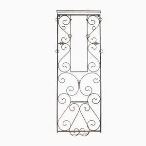 Vintage French Wrought Iron Hall Stand