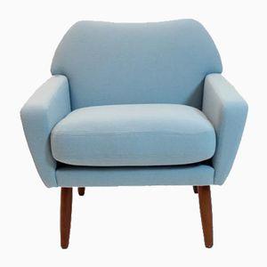 Mid-Century Scandinavian Light Blue Armchairs, 1960s, Set of 2