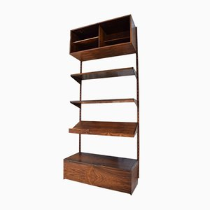 Rosewood Wall Unit with Record Player Cabinet by Kai Kristiansen for Feldballes, 1960s