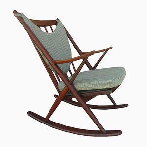 Rocking Chair en Teck par Frank Reenskaug pour Bramin, 1953