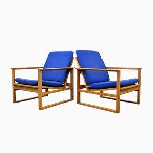 Dänische 2256 Sessel von Børge Mogensen für Fredericia Furniture, 1950er, 2er Set