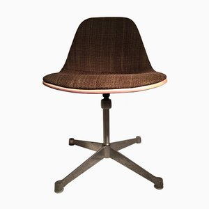 Brown Fiberglass Shell Chair by Charles & Ray Eames for Herman Miller