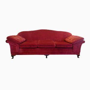 Gr Nes Art Deco Sofa Aus Samt Bei Pamono Kaufen