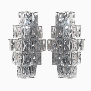 Applique grandi in cristallo di Kinkeldey, Germania, anni '60, set di 2
