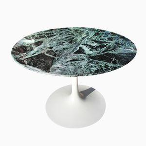 Table Basse Verte en Marbre des Alpes Italiennes par Eero Saarinen pour Knoll international, France, 1960s