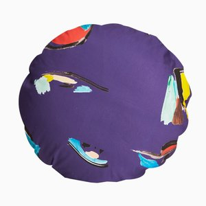 Cuscino Circle Purple Pod by Naomi Clark for Fort Makers