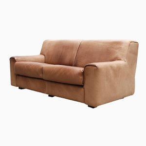 Swiss Vintage Neck Leather DS-42 Leather Sofa from De Sede, 1970s