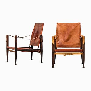 Mid-Century Ash Safari Chairs by Kaare Klint for Rud Rasmussen, Set of 2