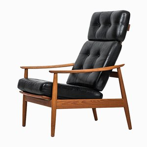 Reclining FD-164 Easy Chair by Arne Vodder for CADO, 1960s