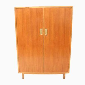 French Teak & Brass Cabinet, 1960s