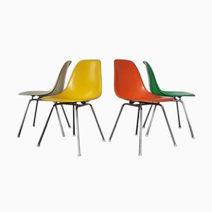 dax dining chairs by charles and ray eames for herman miller set of 4 for sale at pamono. Black Bedroom Furniture Sets. Home Design Ideas