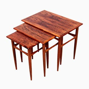 Scandinavian Rosewood Nesting Tables by Poul Hundevad, 1960s