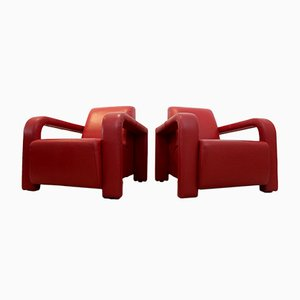 Vintage Italian Leather Armchairs from Marinelli, Set of 2