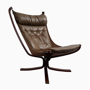 Vintage High-Backed X-Framed Falcon Chair by Sigurd Ressell for Vatne Møbler
