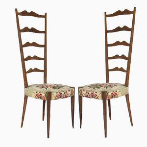 Italian Sculptural Floral Side Chairs by Ezio Minotti, 1940s, Set of 2