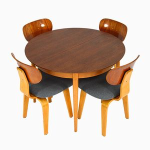 Dutch Birch Plywood TB05 / SB02 Dining Set by Cees Braakman for Pastoe, 1950s